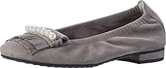 Kennel und Schmenger Schuhmanufaktur Damen Malu Geschlossene Ballerinas, Beige (Rosette/Pearl), 39 EU (6 UK)