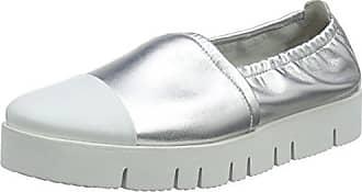 Kennel und Schmenger Malu XXL, Ballerines Plateforme Femme, Blanc (Bianco/Silver Sohle Weiß 613), 38.5 EU