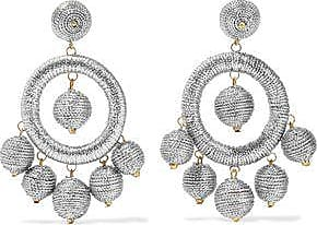 Kenneth Jay Lane Kenneth Jay Lane Woman Silver And Gold-tone Cord Earrings Silver Size Jl2mbBKS
