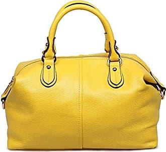 Mode Damen Leder Crossbody Schulter Handtaschen Geldb?RSE 11.8 W x 10.2 H x 5.5 D Grau YUNA kG3YS