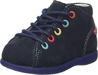 Kickers 509143-10-10 - Primeros Pasos de Otra Piel Unisex bebé, Azul (Azul (Marine 10)), 20 EU