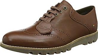 Vikang, Zapatos de Cordones Derby para Hombre, Noir (Noir Perm), 42 EU Kickers