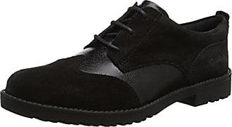 Kickers Lo Brogue 110689, Chaussures à lacets Femme - Noir (Black), 36 EU