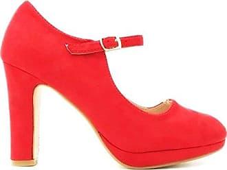 Mary Jane Pumps, Damen, Rot (Rot), Größe 40