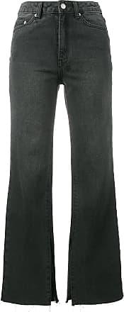 Black Kickn Cropped Flared Jeans - Schwarz Ksubi