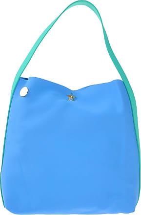 Damen Schultertasche Blau himmelblau 33x40x16,5cm La Fille Des Fleurs