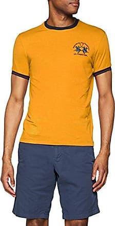 T-Shirt Stretch Cotton Jersey, Camiseta para Hombre, Amarillo (Cadmium Yellow 02133), S La Martina