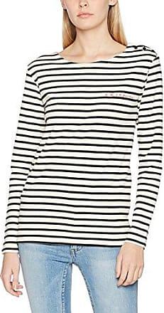 La Petite Francaise Pipa, Camiseta Cuello Alto para Mujer, Crudo (Écru/Noir), Small