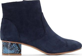 La Redoute Collections Frau Boots mit Absatz in Pythonoptik Gre 39 Blau ggWs7D1