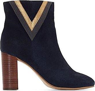 La Redoute Collections Frau Boots mit Absatz in Pythonoptik Gre 39 Blau BZUzAWa