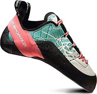 La Sportiva Kataki Grün-Rot-Schwarz, Damen Kletterschuh, Größe EU 36 - Farbe Mint-Coral Damen Kletterschuh, Mint - Coral, Größe 36 - Grün-Rot-Schwarz