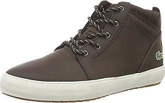 Lacoste Chaussure Montbard 316 1 Pantoufles Pour Les Hommes, Brun Foncé (brw 158 Lt), 42,5 Eu
