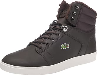 Chaussures De Sport Lacoste Haut Brun Foncé / Blanc yY5kc6Rh