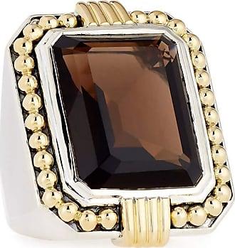 Lagos Emerald-Cut Smoky Quartz Statement Ring, Size 7