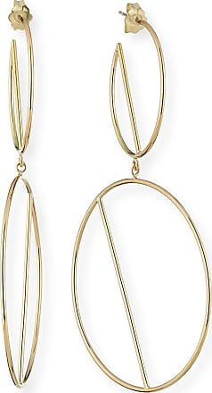 Lana Jewelry 14k Double-Wire Eclipse Hoop Earrings fnOIhfO2w