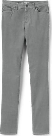 Womens Mid Rise Slim Leg Cord Jeans - 14/16 30 - Grey Lands End 3v7ESK
