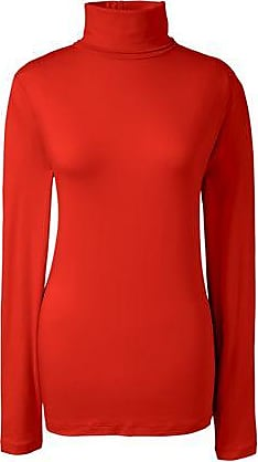Womens Petite Cotton/Modal Roll Neck - 16-18 - Orange Lands End The Cheapest Sale Online Outlet Buy 0IQij