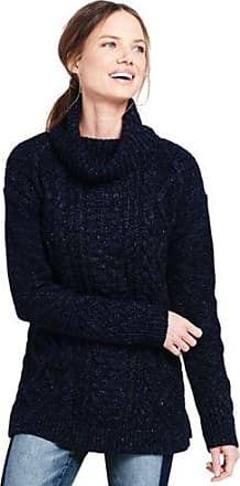 Womens Petite Cosy, Lofty Cable Roll Neck Jumper - 16-18 - RED Lands End