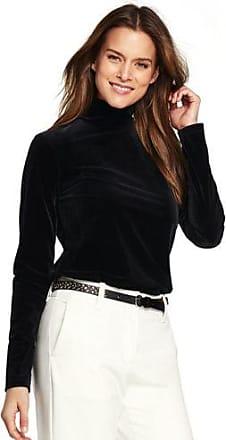 Cheap Sale Websites Womens Petite Velvet Roll Neck - 16-18 - BLACK Lands End Official Site Sale Online Discount Cheap Price C7fDkpT