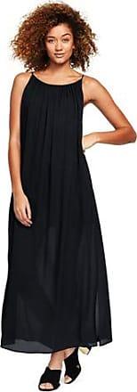 Womens Silk Georgette Maxi Dress - 14-16 - BLACK Lands End 7j23P