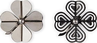 Lanvin Asymmetrical Cosmic Clover Earrings Grey/black 4scMNA8KUE