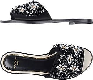 Sandals for Women On Sale in Outlet, Ebony, Cotton, 2017, 2.5 Lanvin