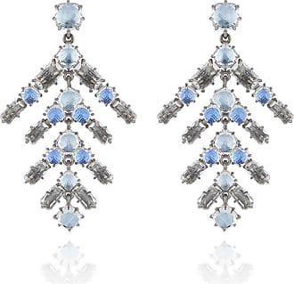 Larkspur & Hawk Caterina Trapezoid Earrings, Blue