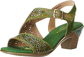 Burton 03 - Tobillo bajo de Cuero Mujer, Color Verde, Talla 37 EU Laura Vita