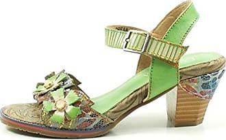 Laura Vita SD328-83 Belfort 83 Schuhe Damen Sandalen Pantoletten, Schuhgröße:41;Farbe:Grün