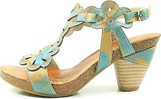 Laura Vita SL235-10 DAX 10 Schuhe Damen Sandalen Sandaletten, Schuhgröße:40;Farbe:Blau