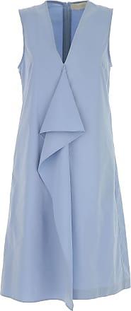 Dress for Women, Evening Cocktail Party On Sale, Blue, polyester, 2017, 10 12 14 6 8 L'autre Chose