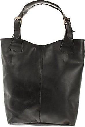 Henkeltasche Echt-Leder Vintage-Look Damentasche Handtasche für Damen Shopper für Freizeit, Büro oder Shopping Beuteltasche Frauen Ledertasche 34x35x10cm schlamm LE0033-wax Leconi