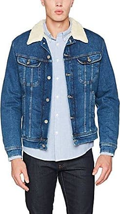 Snap Jacket, Chaqueta para Hombre, Azul (Bleached Stone), X-Large Lee