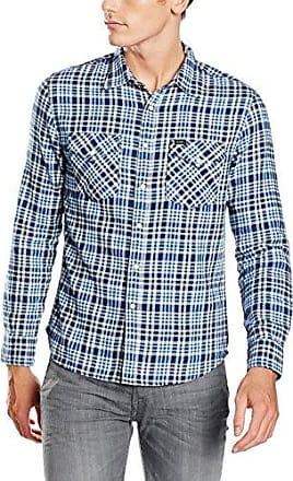 Button Down Shirt, Chemise Casual Homme, Bleu (Micro Blue), Tour de Cou: 37 cm (Taille Fabricant: 37)Lee