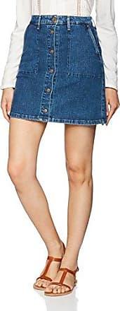 Damen Rock Button Through Skirt Lee