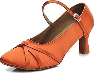 YFF Neue Womens Ballroom Latin Tango Schuhe 5 cm und 7 cm hohem Absatz,Beige,7 cm,9 LEIT