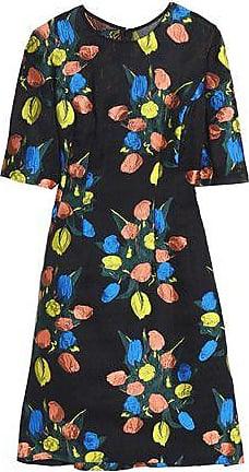Lela Rose Woman Holly Embroidered Crinkled Chiffon Dress Black Size 0 Lela Rose 9etXqVKM