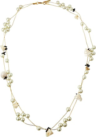 Lele Sadoughi Pearly Striped Shell Knotted Necklace, 34