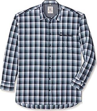 Große Größen Herren Hemd Große Größen, Camisa Casual para Hombre, Verde (Reed Green 661), XXXXX-Large Lerros