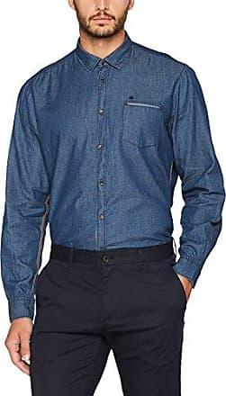 JP 1880 Hemd Joggdenim 1/1, Camisa para Hombre, Azul (Dark Denim 93), XL JP1880