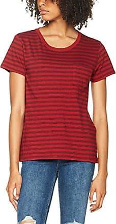 Levi's New Sutro tee, Camiseta para Mujer, Rojo (Jerry Red Dahlia/Marshmalow/Navy Blazer 3), Medium