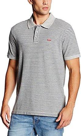 Levi's HOUSEMARK Polo, Polo Homme, Gris (C34542 Feeder Stripe Owl Grey Heather/Dress Blues Stripe MK162022_02), Small