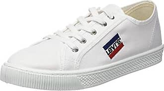 Levi'S Woods Velcro, Zapatillas para Hombre, Blanco (Brillant White), 41 EU