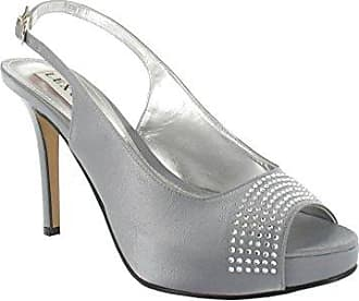 Ladies Lexus High Heel Sling Back Fashion Peep Toe Platform Shoes in Grey Lexus EBJKe