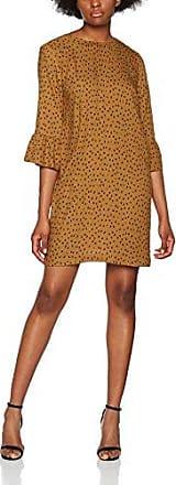 046CC1E023-Lace Details, Robe Femme, Marron (Camel 230), S (Taille Fabricant: S)EDC by Esprit