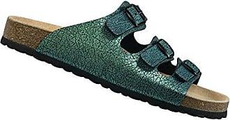 Lico Bioline Pantolette grün 40 Damen Mädchen Hausschuh Schlappen Sandale Kork QivJL