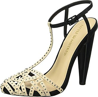 Hazel, Zapatos de Tacón con Punta Cerrada para Mujer, Dorado, 39 EU Little Mistress