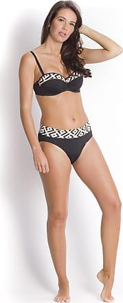 Bikini bottom, Black and brown stripe - Andra Icona Livia Monte-Carlo
