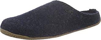 Living Kitzbühel Pantoffel Schweizer Kreuz mit Fußbett - Zuecos de Lana Unisex Adulto, Color Gris, Talla 36