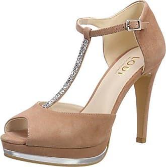 Riona, Zapatos con Tacon y Correa de Tobillo para Mujer, Rosa (Ante Rubor Rubor), 40 EU Lodi